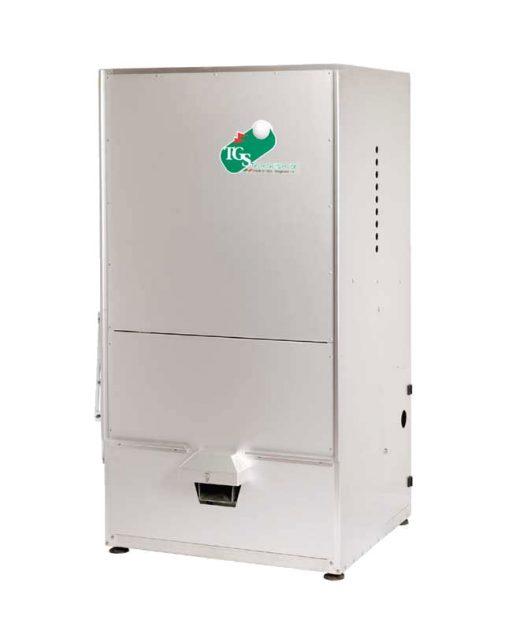 Distributore automatico di palline completo di sistema di caricamento e lavaggio automatico.