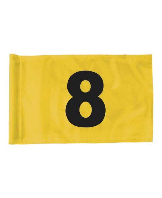 Bandiere-numerate-10-18-con-attacco-a-tubo-gialle