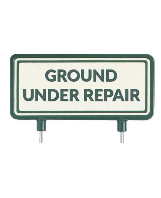 "Cartelli per il fairway ""Ground under repair"""