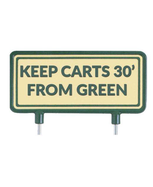 """Cartelli-per-il-fairway-""""Keep-carts-30′-from-green""""-sabbia"""
