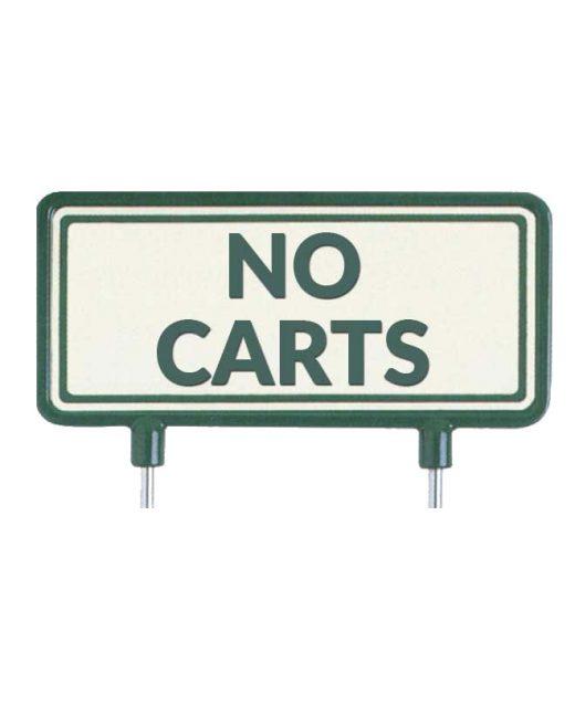 "Cartelli-per-il-fairway-""No-Carts"""