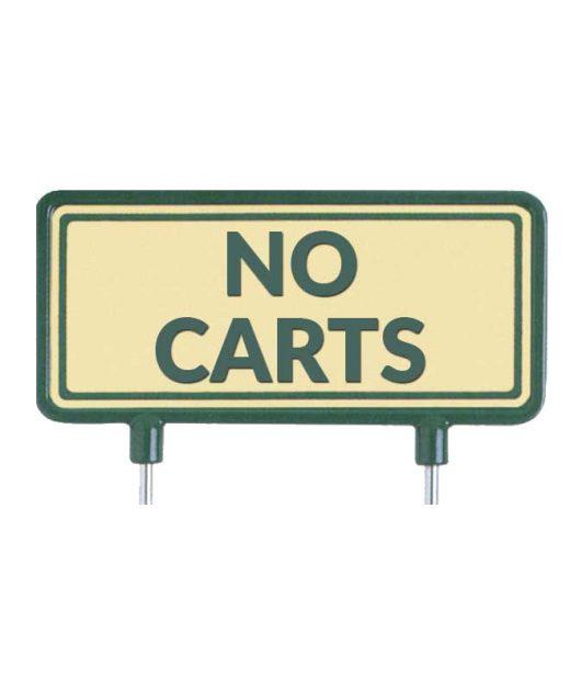 """Cartelli-per-il-fairway-""""No-Carts""""-sabbia"""