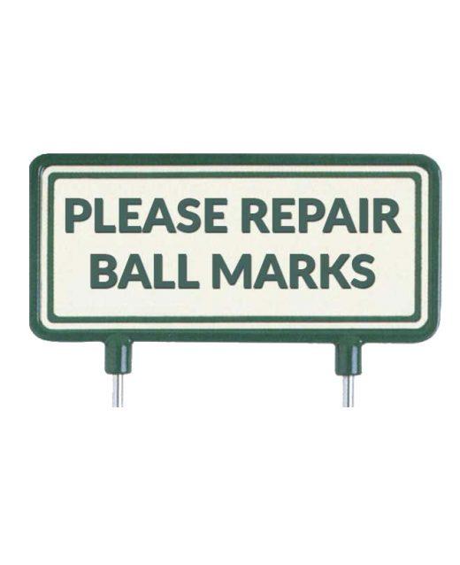 """Cartelli-per-il-fairway-""""Please-repair-ball-marks"""""""