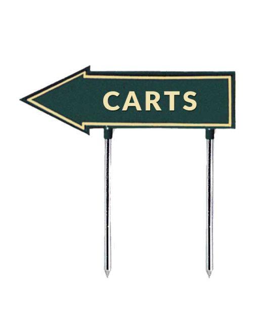 Segnale-a-freccia-carts-per-golf-verde