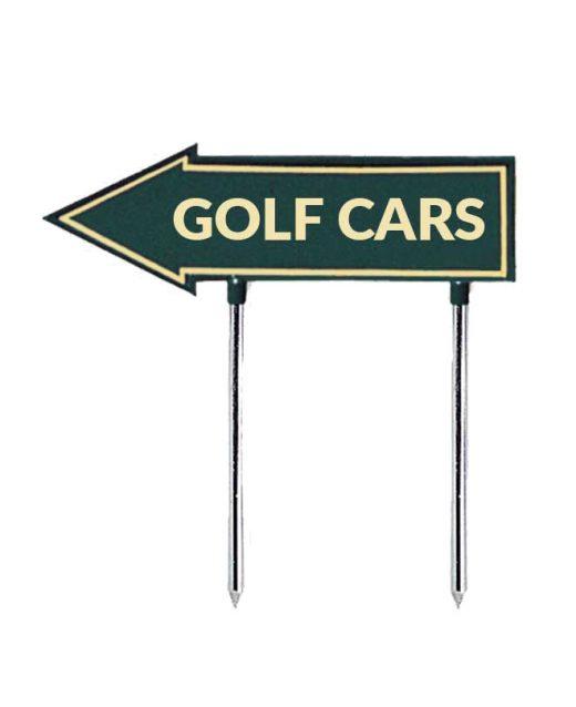 Segnale-a-freccia-golf-cars-per-golf-verde