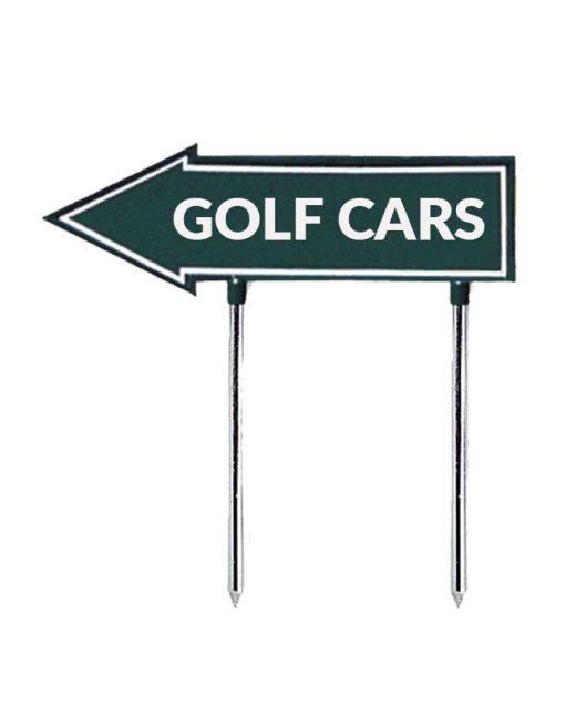 Segnale-a-freccia-golf-cars-per-golf-verde-e-bianco