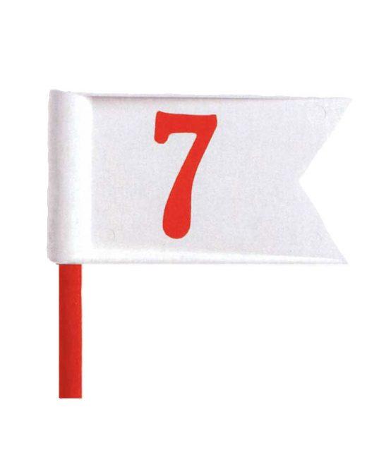 Serie-di-marcatori-da-putting-green-serie-Pennant-bianco-rossa